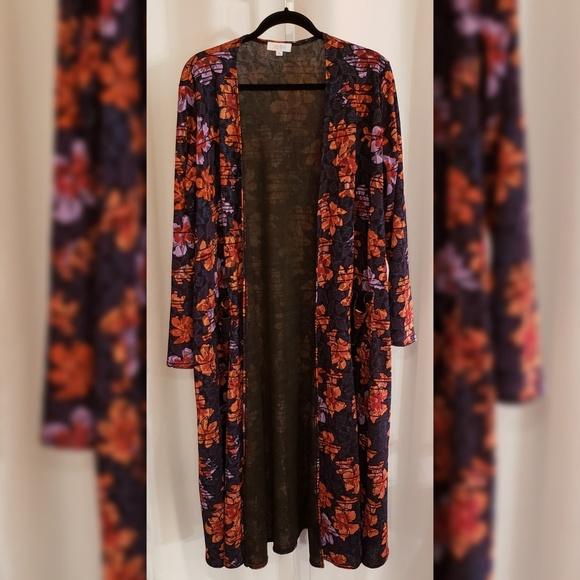 LuLaRoe Jackets & Blazers - LulaRoe Multi-color floral duster sz XL